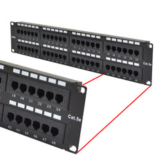 Cat5e UTP 48 Port Network LAN Patch Panel 2U 110 with cable management