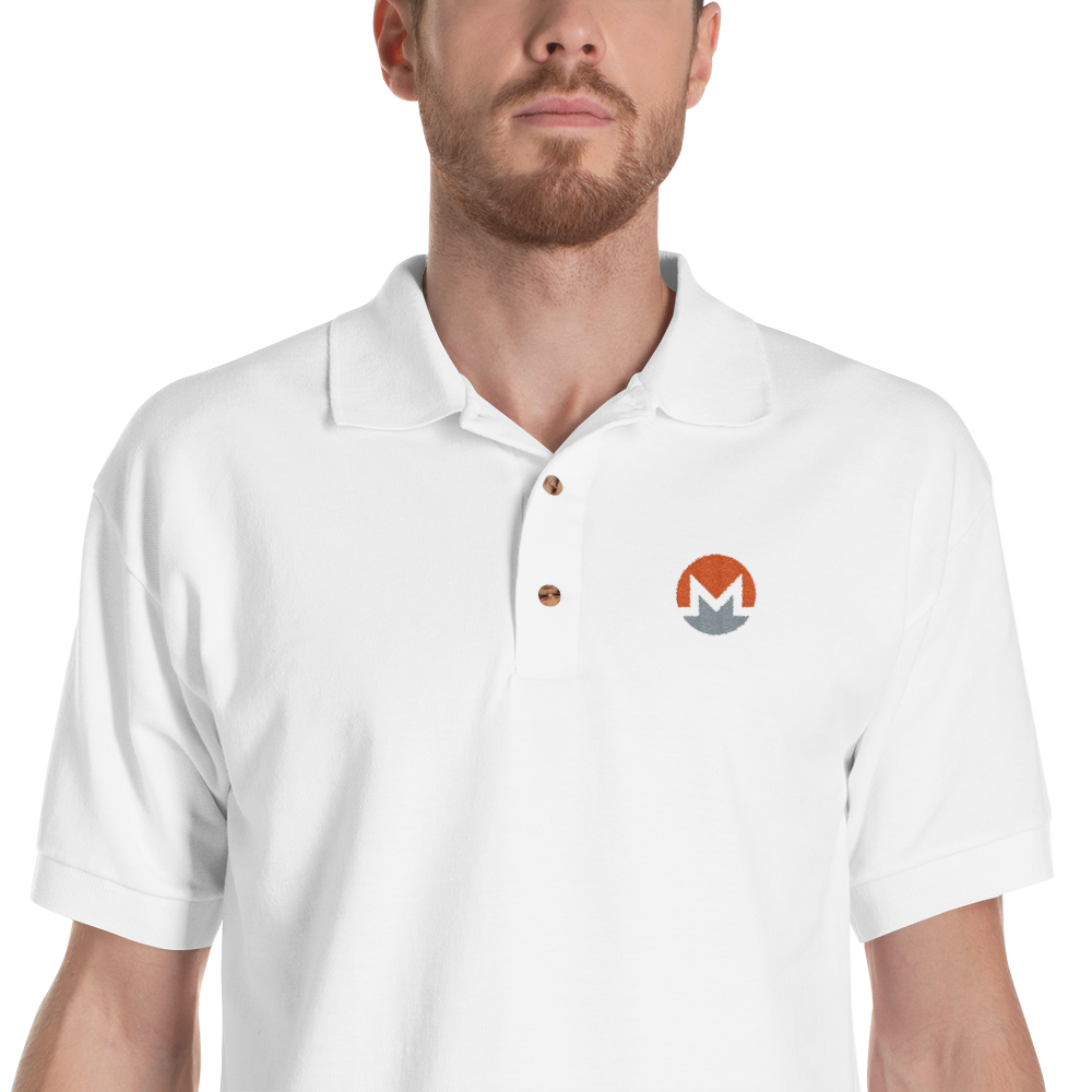bitcoin hat club - Monero Embroidered Polo Shirt [XMR] | Bitcoin Hat Club Signature Collection