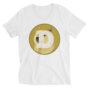 bitcoin hat club - Unisex Short Sleeve DOGE V-Neck T-Shirt [DOGE]