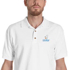 bitcoin hat club - Stellar Embroidered Polo Shirt [XLM] | Bitcoin Hat Club Signature Collection