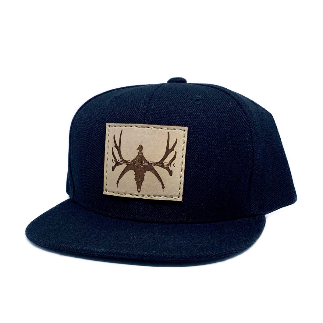 Kids Leather Patch Hat