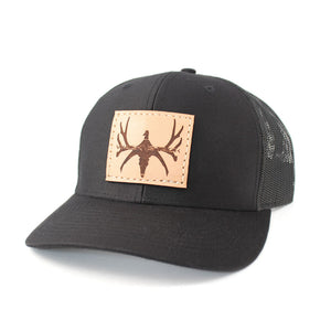 Leather Patch Logo Snapback Hat