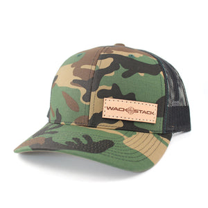 WACKNSTACK Leather Patch Snapback Hat