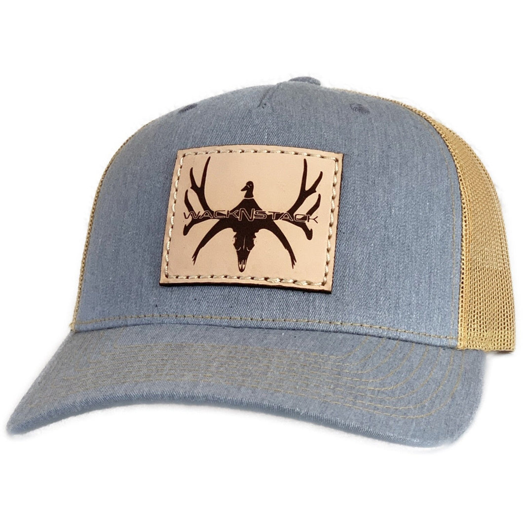 Women's Leather Patch Logo Snapback Hat