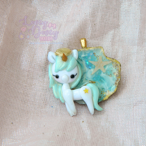 sea breeze unicorn pendant