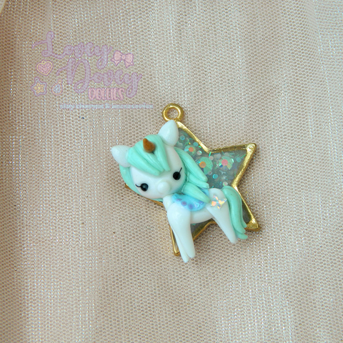 magical mint pony pendant