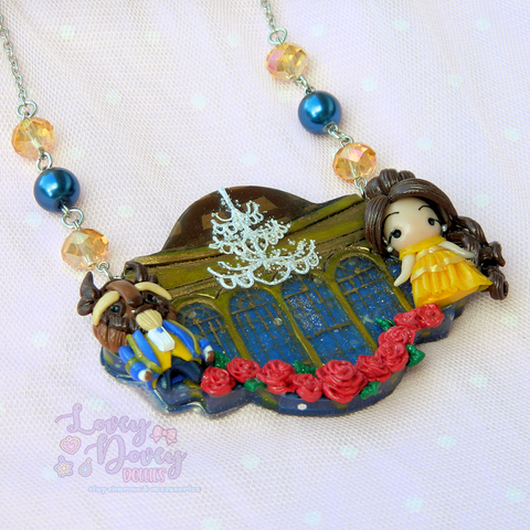 Beauty and the Beast Scene Pendant