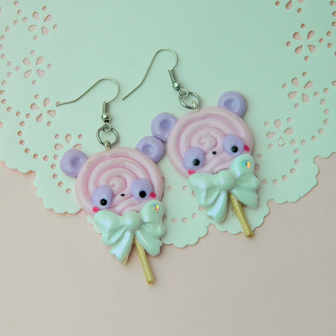 Panda Lollipop Earrings