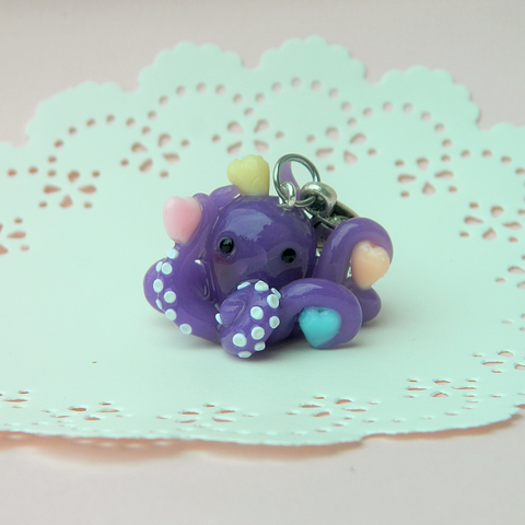 Purple Octopus Doll charm