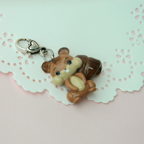 Squirrel Doll charm