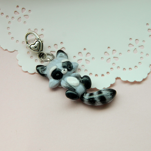 Baby Raccoon Doll charm