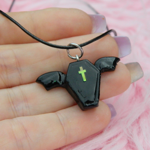 Kawaii Bat Coffin charm