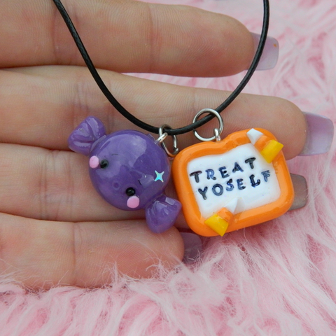 Treat Yoself candy charm set