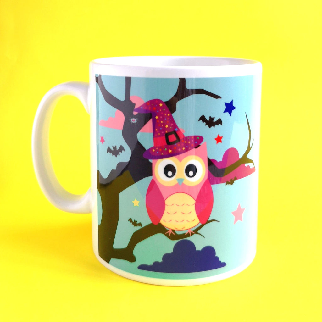 Halloween owl pun mug from colour your life club