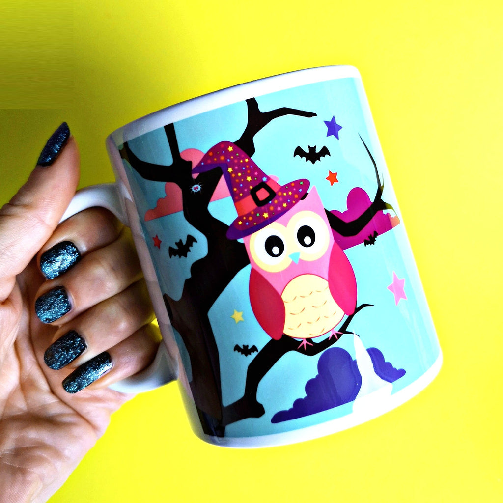 Halloween owl mug from colour your life club