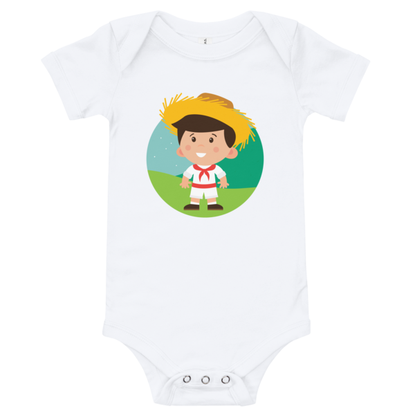 Jibarito Illustration Baby Bodysuit