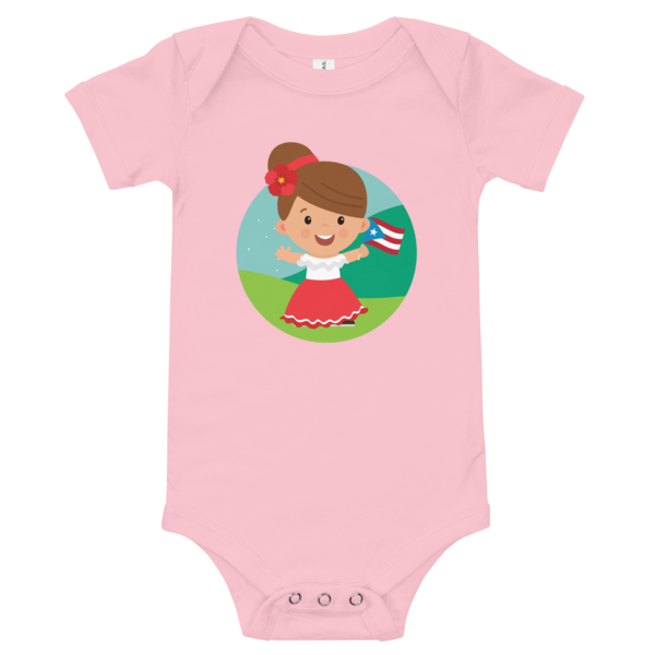 Jibarita Illustration Baby Bodysuit