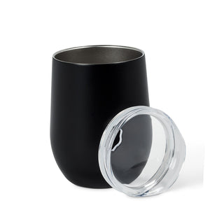 Insulated Black Wine Tumbler