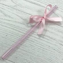 Load image into Gallery viewer, Sapphire Pink Glass Straws