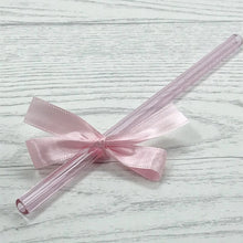 Load image into Gallery viewer, Sapphire Pink Individual Glass Straw