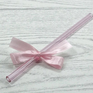 Sapphire Pink Individual Glass Straw