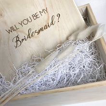 Load image into Gallery viewer, Bridesmaid Memory Box w/Name & Pop the Question