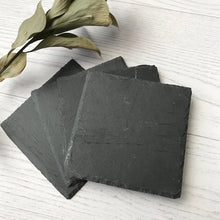 Load image into Gallery viewer, Square Slate Coaster Set