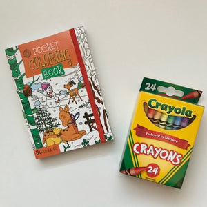 Mini Colouring Book w/24 Crayola Crayons