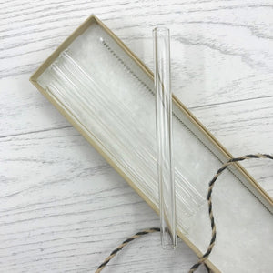 Clear Glass Cocktail Straws