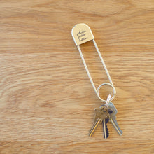 Load image into Gallery viewer, Safety Pin Key Chain