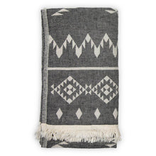 Load image into Gallery viewer, Turkish Throw/Towel - Atlas Black