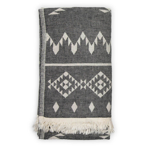 Turkish Throw/Towel - Atlas Black