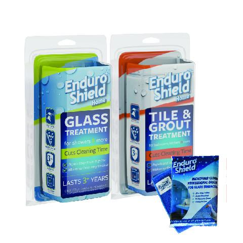 EnduroShield Home Twin Bonus Pack (includes 125 ml Glass Kit & 125 ml Tile Kit) +  2 FREE Microfibre Cloths