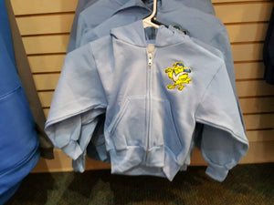 Baby Bird Blue Canaries Youth Hoodie