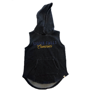 Squints Sleeveless Girls Hoodie