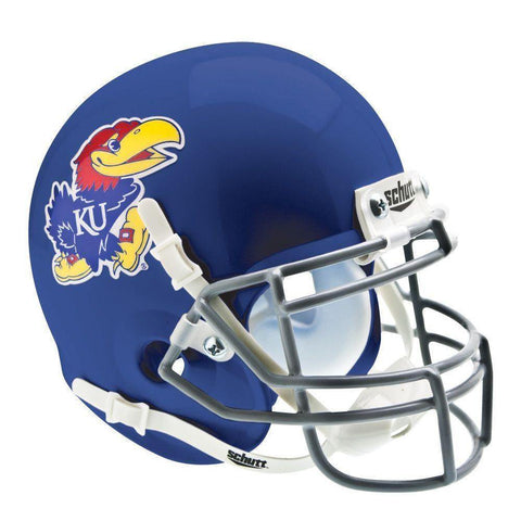 Kansas Jayhawks College Football Collectible Schutt Mini Helmet - Picture Inside - FANZ Collectibles