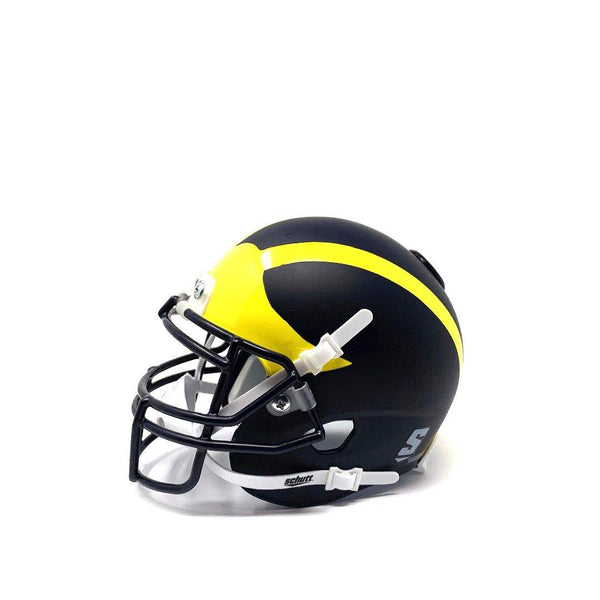 Michigan Wolverines College Football Collectible Schutt Mini Helmet - Picture Inside