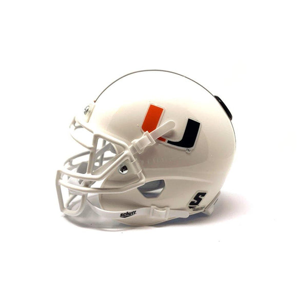 Miami Hurricanes College Football Collectible Schutt Mini Helmet - Picture Inside