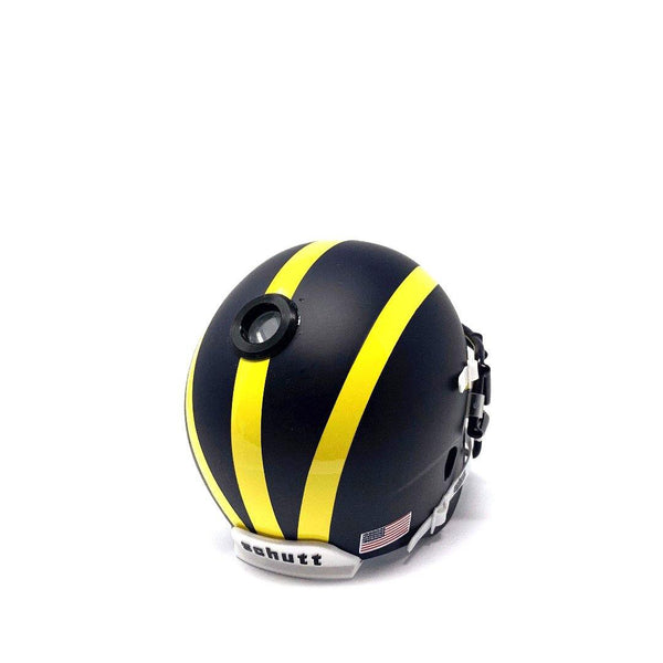 Michigan Wolverines College Football Collectible Schutt Mini Helmet - Picture Inside - FANZ Collectibles