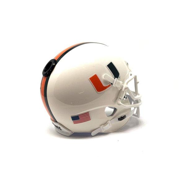 Miami Hurricanes College Football Collectible Schutt Mini Helmet - Picture Inside - Fanz Collectibles