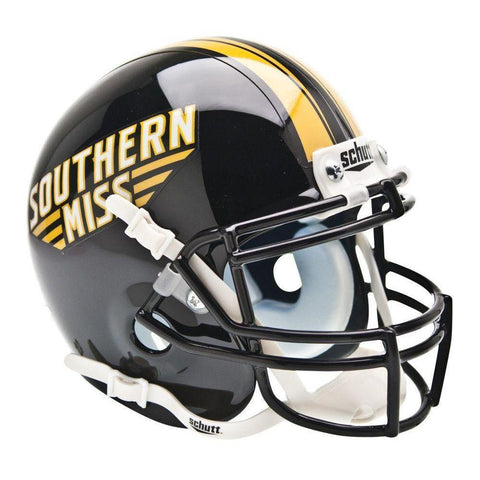 Southern Mississippi Golden Eagles College Football Collectible Schutt Mini Helmet - Picture Inside