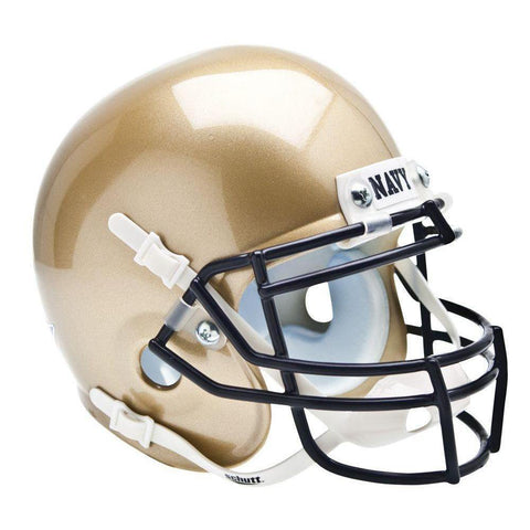 Navy Midshipmen College Football Collectible Schutt Mini Helmet - Picture Inside - FANZ Collectibles