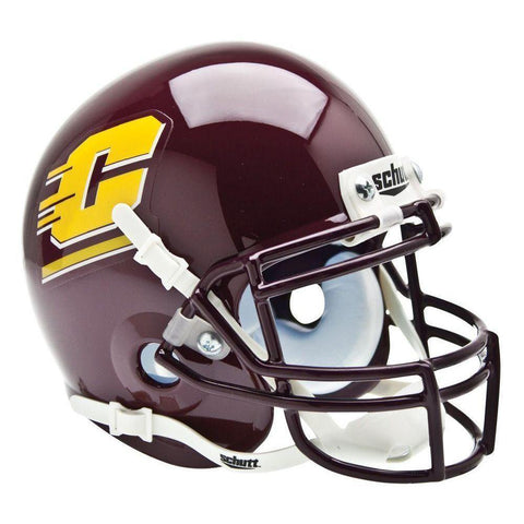Central Michigan Chippewas College Football Collectible Schutt Mini Helmet - Picture Inside - FANZ Collectibles