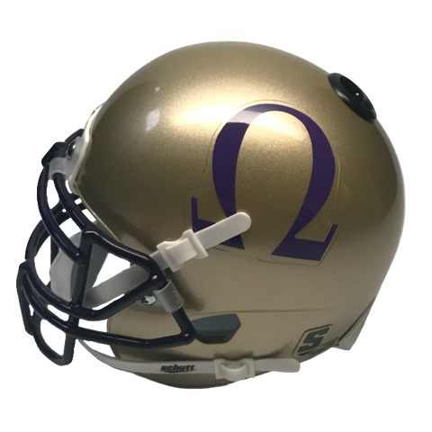 Omega Psi Phi Miniature Football Helmet - Picture Inside - FANZ Collectibles