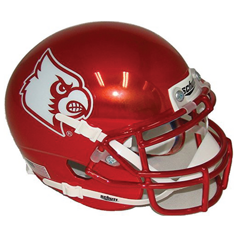 Louisville Cardinals College Football Collectible Schutt Mini Helmet - Picture Inside - FANZ Collectibles