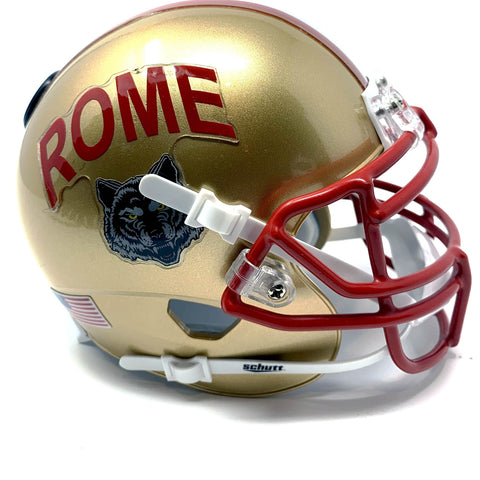 Rome Wolves HS Mini Football Helmet - Picture Inside - FANZ Collectibles