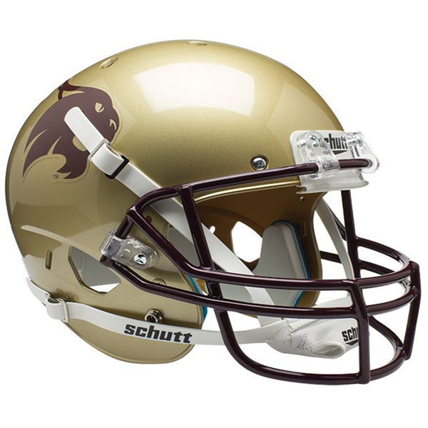 Texas State Bobcats College Football Collectible Schutt Mini Helmet - Picture Inside - FANZ Collectibles