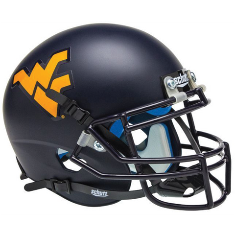 West Virginia Mountaineers College Football Collectible Schutt Mini Helmet - Picture Inside - FANZ Collectibles