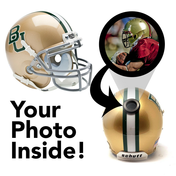 Baylor Bears College Football Collectible Schutt Mini Helmet - Picture Inside - FANZ Collectibles