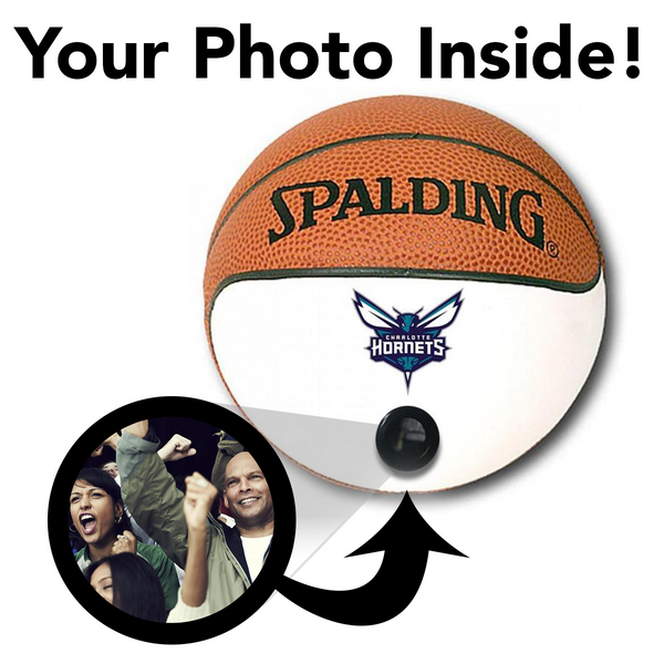 Hornets NBA Collectible Miniature Basketball - Picture Inside - FANZ Collectibles